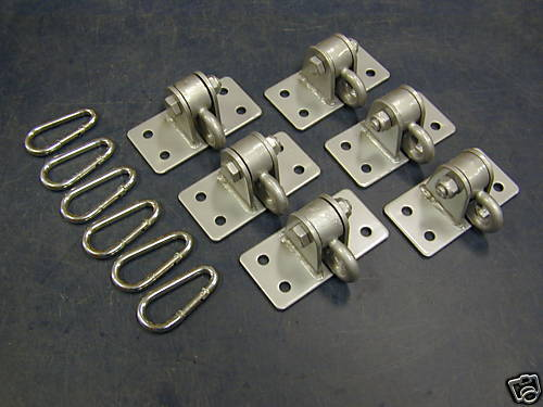 Swing hangers and tire swivels for Swing set supports